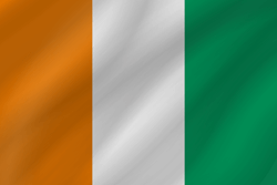 Flag of Ivory Coast - Flag of Côte d'Ivoire - Wave
