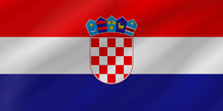Drapeau de la Croatie - Vague