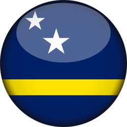 Flag of Curacao - 3D Round