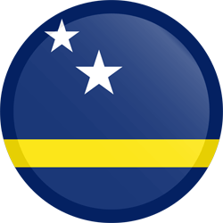 Flag of Curacao - Button Round