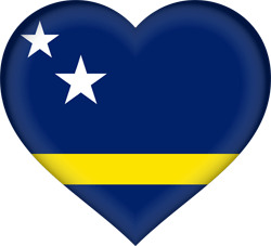 Flag of Curacao - Heart 3D