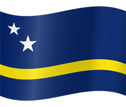 Flag of Curacao - Waving