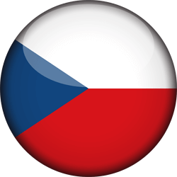 Flag of the Czech Republic - 3D Round