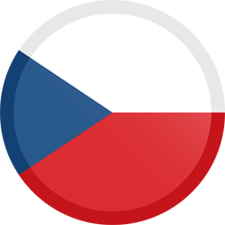 Flag of the Czech Republic - Button Round