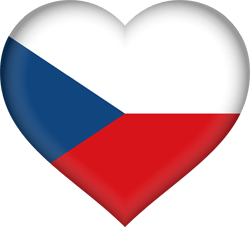 Flag of the Czech Republic - Heart 3D