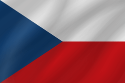 Flag of the Czech Republic - Wave