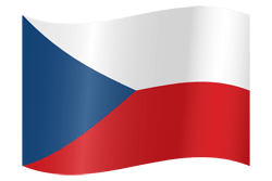 Flag of the Czech Republic - Waving