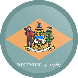 Flag of Delaware - Button Round