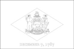 Flagge von Delaware - A4