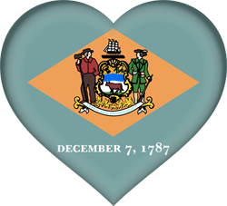 Flag of Delaware - Heart 3D