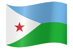 Djibouti flag vector - free download