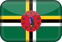 Flag of Dominica - 3D