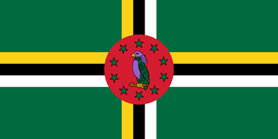 Dominica vlag vector - gratis downloaden