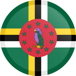Flag of Dominica - Button Round