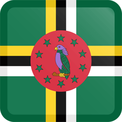 Flag of Dominica - Button Square