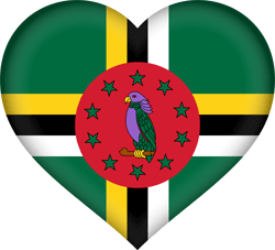 Flag of Dominica - Heart 3D