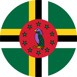 Flag of Dominica - Round