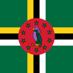 Dominica vlag emoji - gratis downloaden