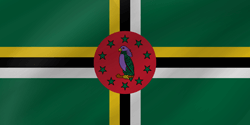 Flagge von Dominica Vektor - Gratis Download