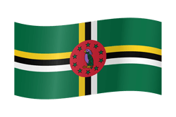 Flag of Dominica - Waving