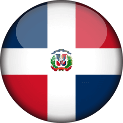 Flag of Dominican Republic, the - 3D Round