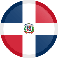Flag of Dominican Republic, the - Button Round