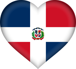 Flag of Dominican Republic, the - Heart 3D