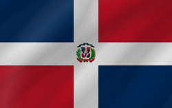 Drapeau de la République dominicaine - Vague