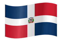 Flag of Dominican Republic, the - Waving