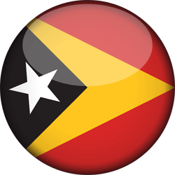 Flag of East Timor - 3D Round