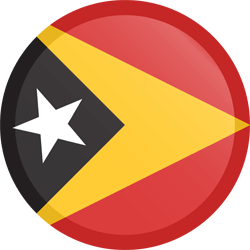 Flag of East Timor - Button Round