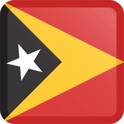 Flag of East Timor - Button Square