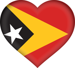 Flag of East Timor - Heart 3D