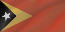 Flag of East Timor - Wave