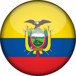 Flag of Ecuador - 3D Round