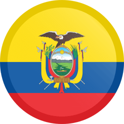 Flag of Ecuador - Button Round