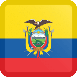 Flag of Ecuador - Button Square