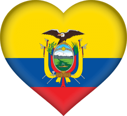 Flag of Ecuador - Heart 3D