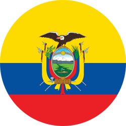 Flag of Ecuador - Round