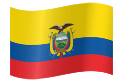 Flag of Ecuador - Waving