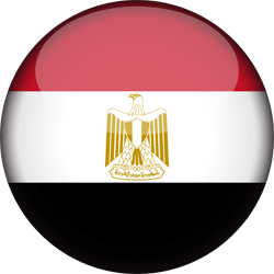 Flag of Egypt - 3D Round