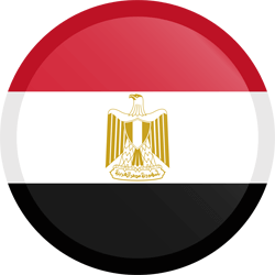 Flag of Egypt - Button Round