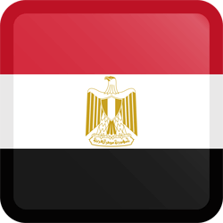 Flag of Egypt - Button Square