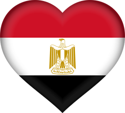Flag of Egypt - Heart 3D