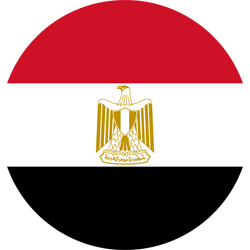 Flag of Egypt - Round