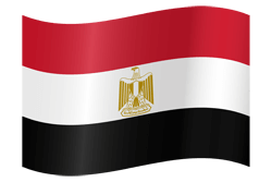 Flag of Egypt - Waving