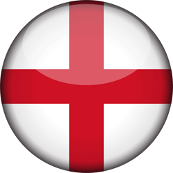 Flag of England - 3D Round