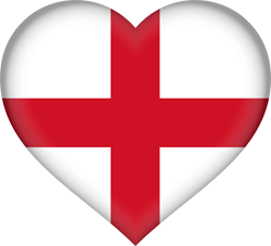 Flag of England - Heart 3D