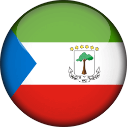 Flag of Equatorial Guinea - 3D Round