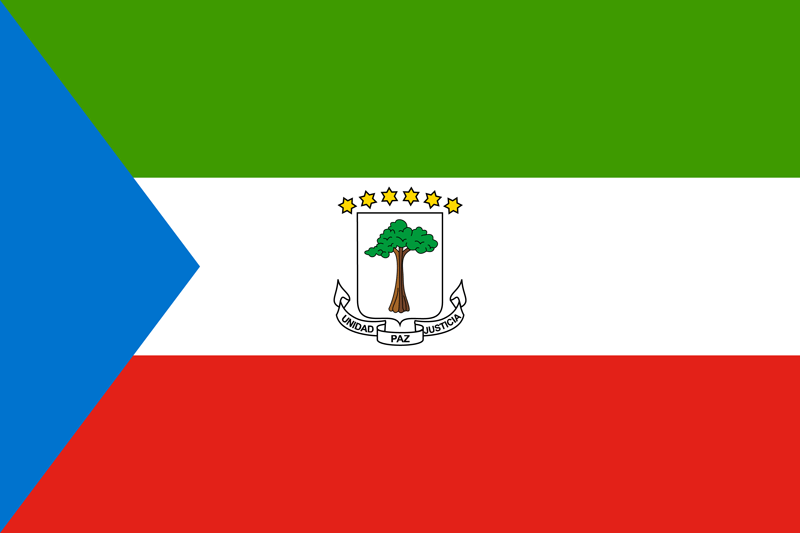 Flag Of Equatorial Guinea Image And Meaning Equatorial